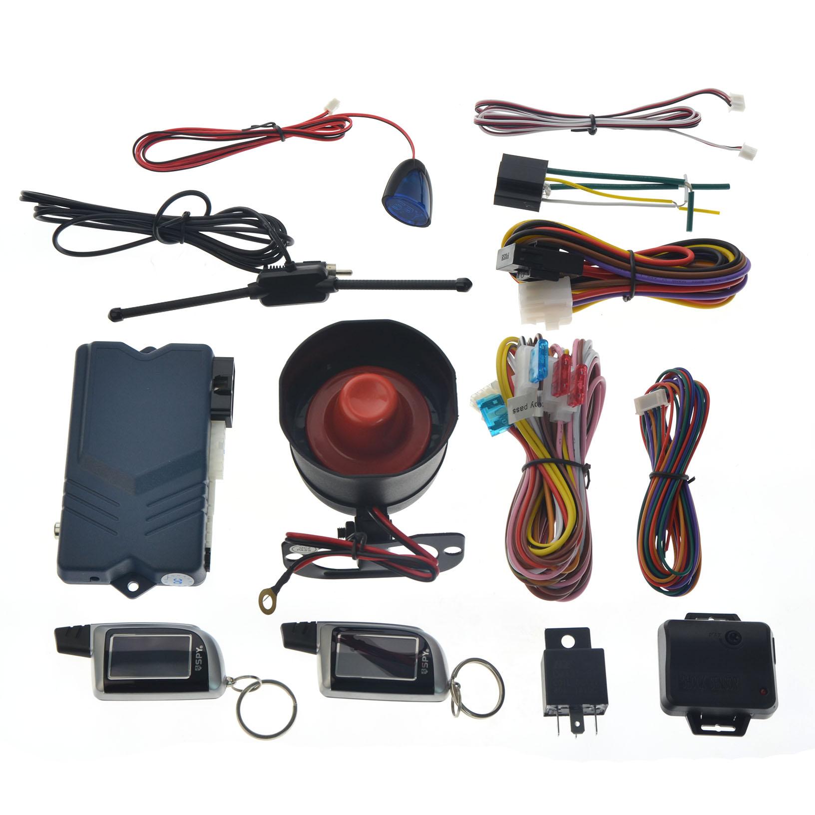 SPY CAR ALARM SYSTEM & IMMOBILISER REMOTE ENGINE START & CENTRAL ...