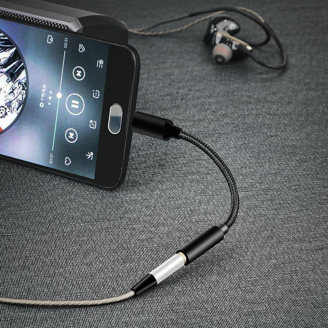 Für Samsung Note 10 10 5G Typ C USB-C Kopfhörerkabel auf 3,5 mm Klinkenadapter